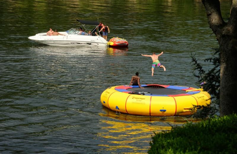 Lake activities at Dream Catcher Point Resort.