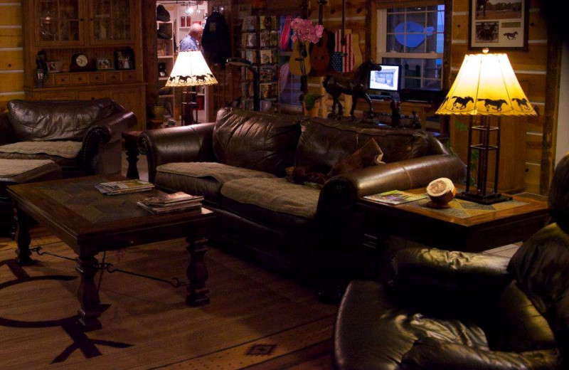 Lounge at Colorado Cattle Company Ranch.