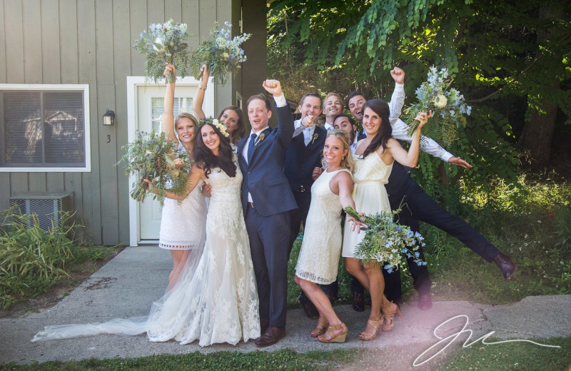 Wedding at Michillinda Beach Lodge.