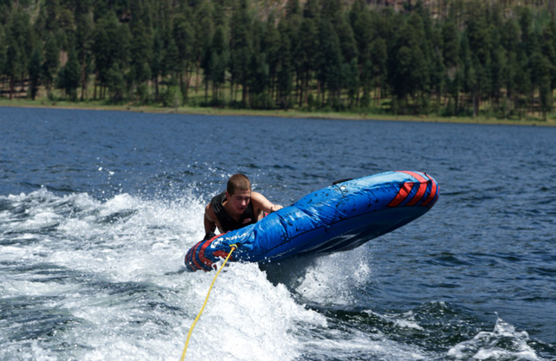 Water tubing at Colorado Trails Ranch.