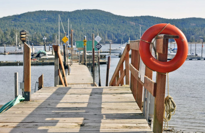 Dock at Sooke Harbour Resort & Marina.