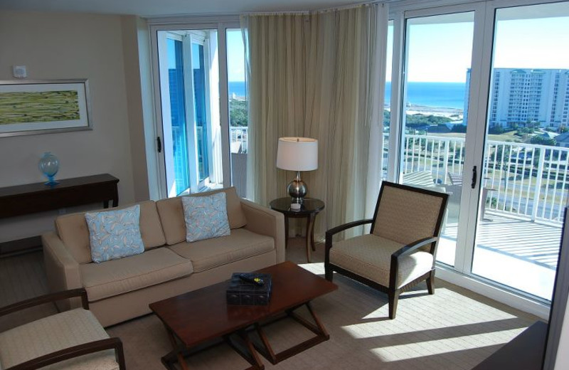 Guest living room at The Palms of Destin Resort & Conference Center.