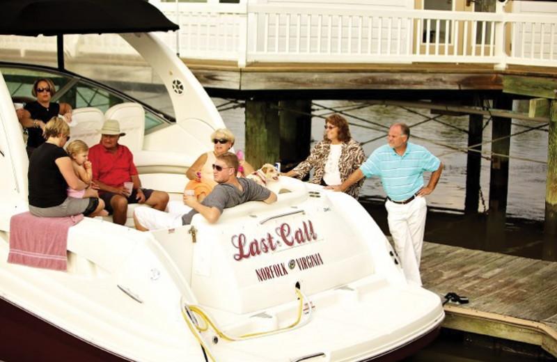 Family boating at Smithfield Station.