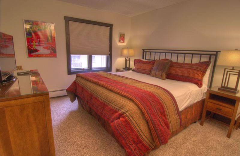 Rental bedroom at Westwind at Vail.