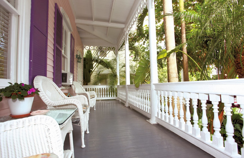 Porch view at Ambrosia Key West.