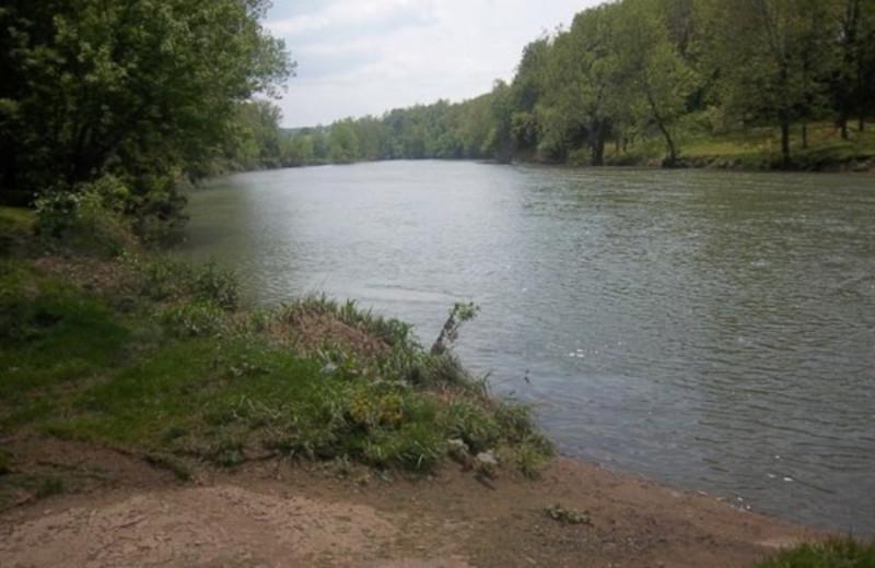 River at Papa Bear's River Cabin.