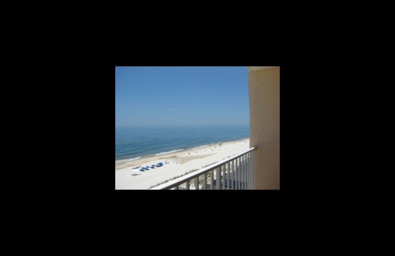 Balcony view at Four Seasons Vacation Rentals.