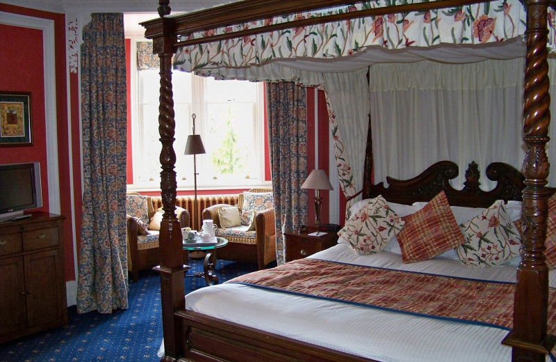 Guest room at Pine Trees Hotel.