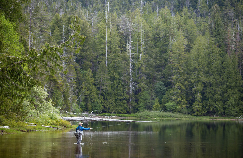 Fishing at Nootka Wilderness Lodge.