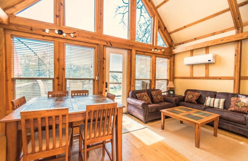 Living room at Geronimo Creek Retreat.
