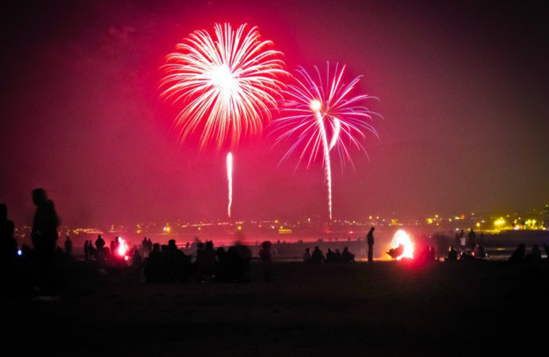 Fireworks at Coastal Vacation Rentals.