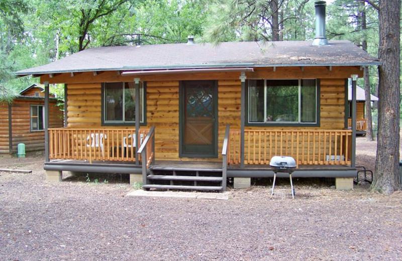 Cabin at Lazy Oaks Resort.