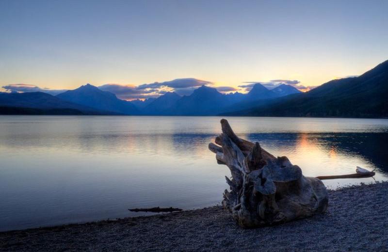 Lake view at Glacier National Park near North Forty Resort.