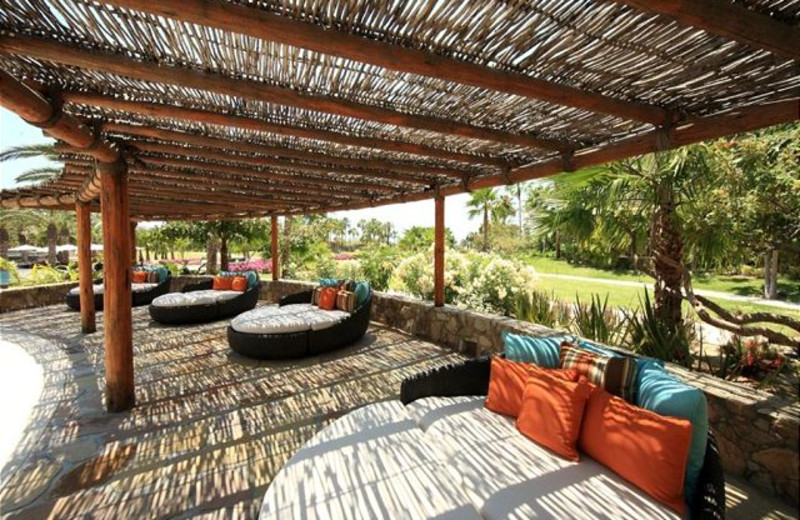 Pool side cabanas at Luxury Villa Collections.