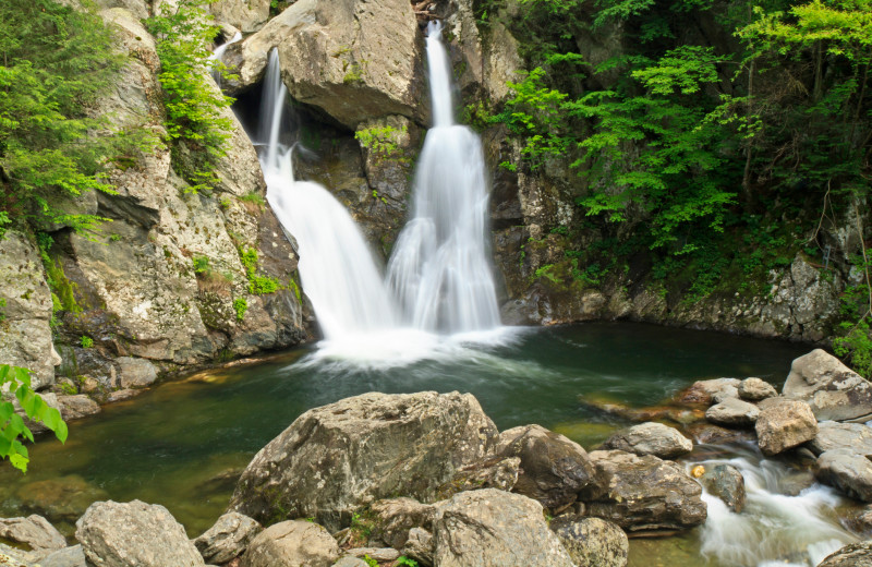 Waterfall near Brook Farm Inn.