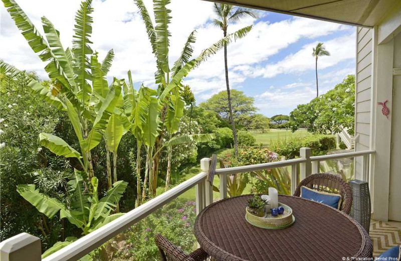 Rental balcony at Vacation Rental Pros - Maui.