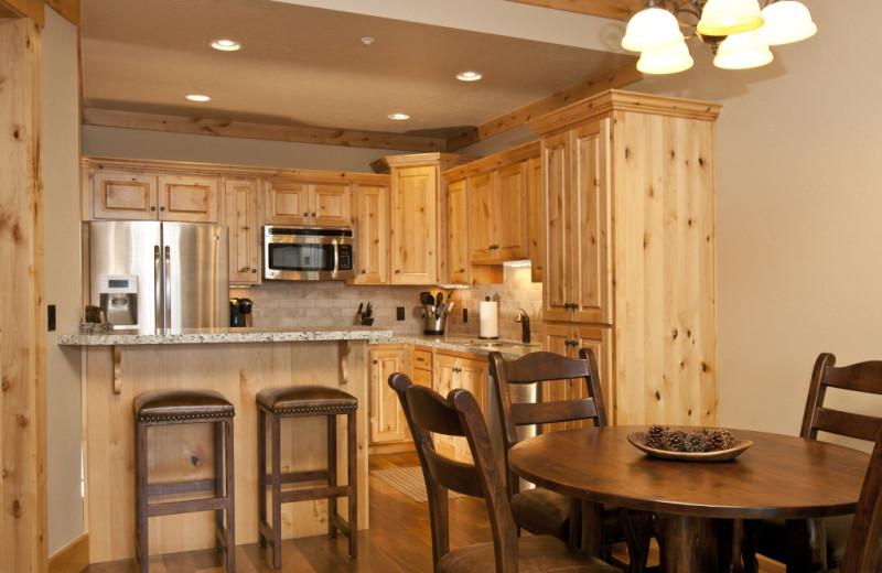 Vacation rental kitchen at Cabin and Company.