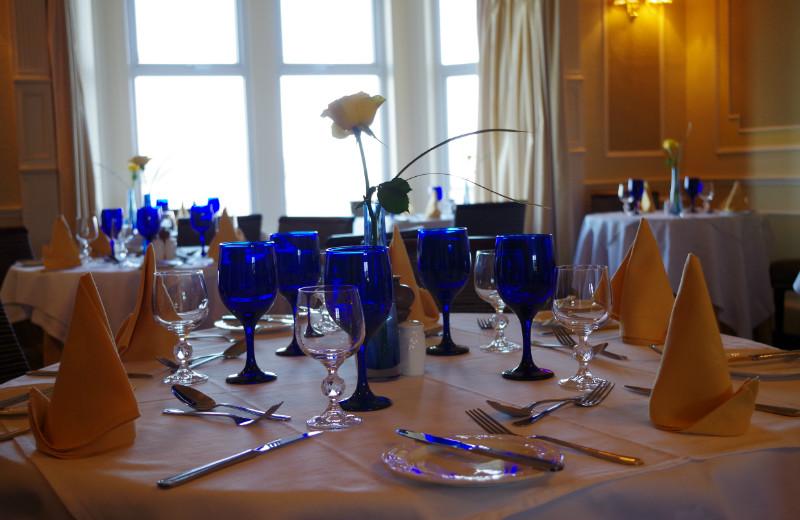 Dining at Balcary Bay.