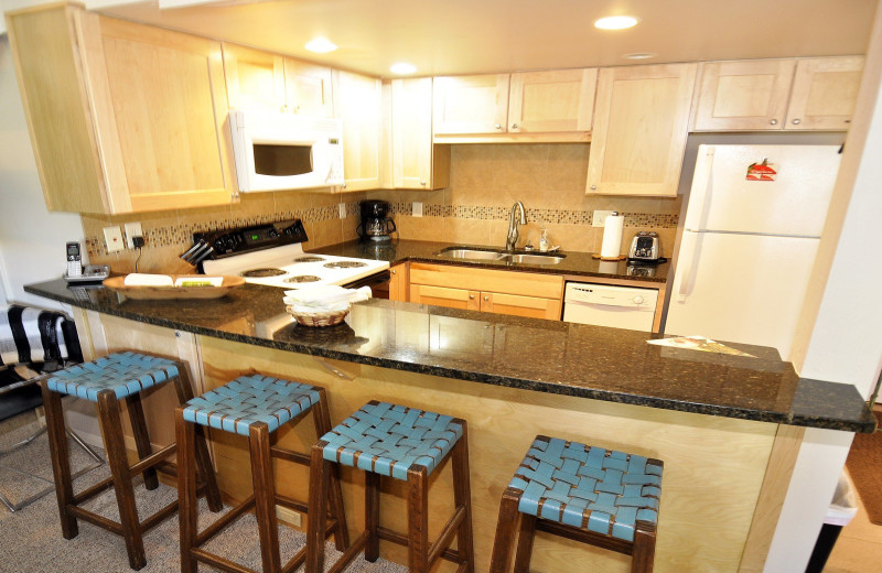 Rental kitchen at Steamboat Lodging Properties.