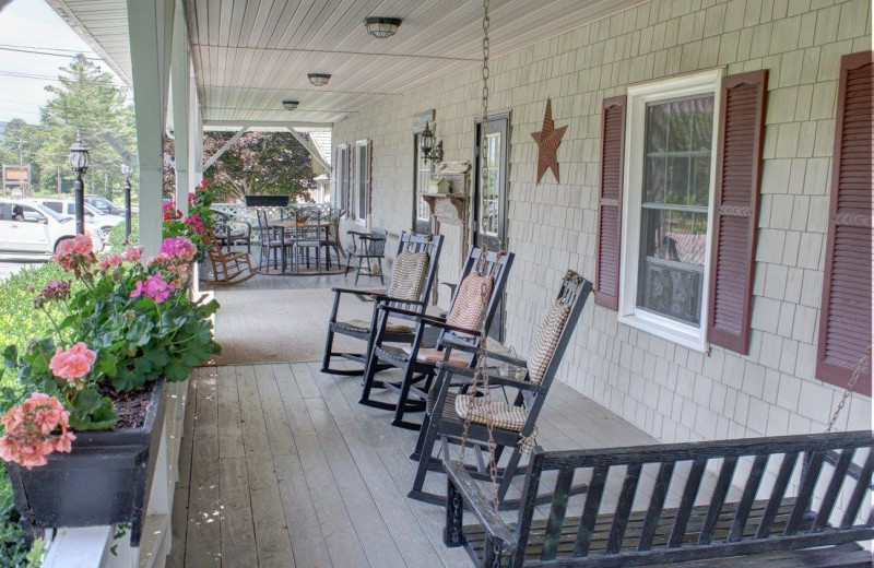 Porch at Little Main Street Inn.