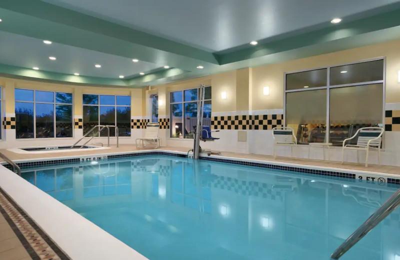 Indoor pool at Hilton Garden Inn Wilkes-Barre.