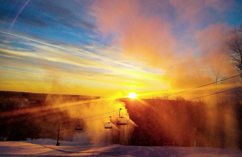 Sunset at Holiday Valley Resort.
