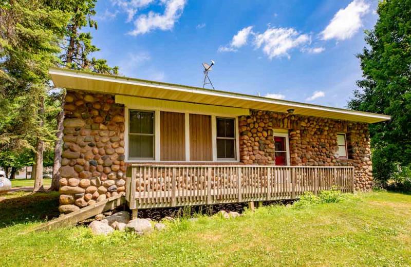Cabin exterior at The Red Door Resort.