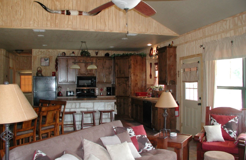 Rental great room at Frio River Vacation Rentals.
