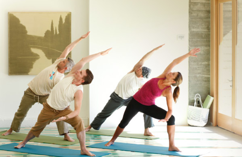 Yoga class at h2hotel.