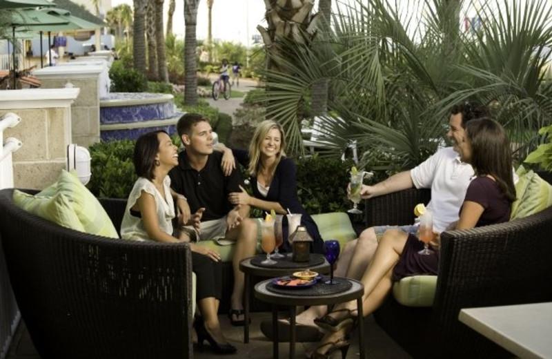 Resort patio at Gold Key Resorts.