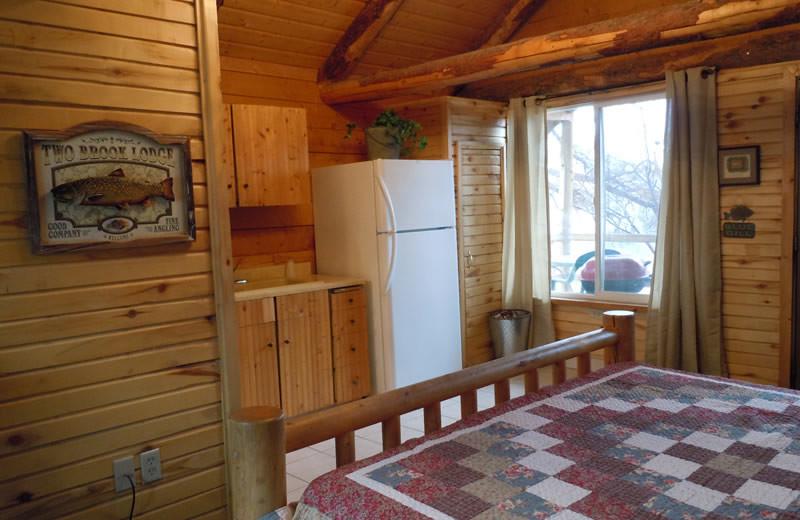 Cabin interior at Big Rock Candy Mountain Resort.