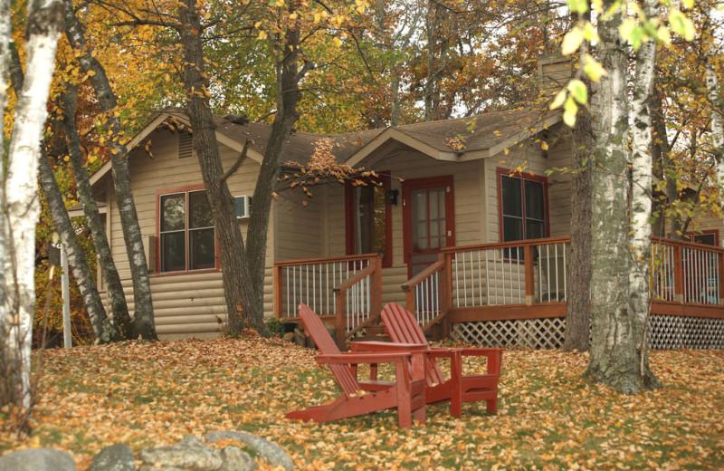 Cabin exterior at Lost Lake Lodge.