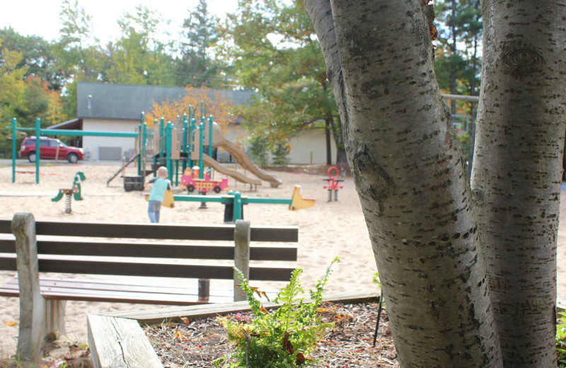 Playground near Fisher's Lakeside Cottages.