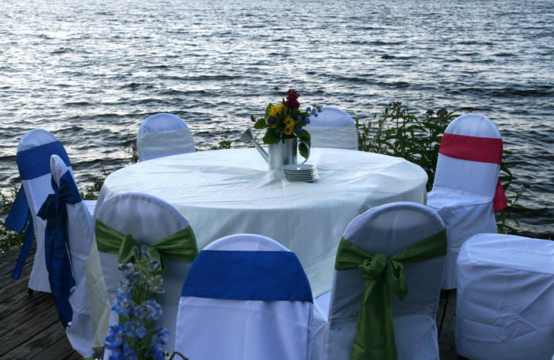 Wedding reception at Lakewoods Resort.