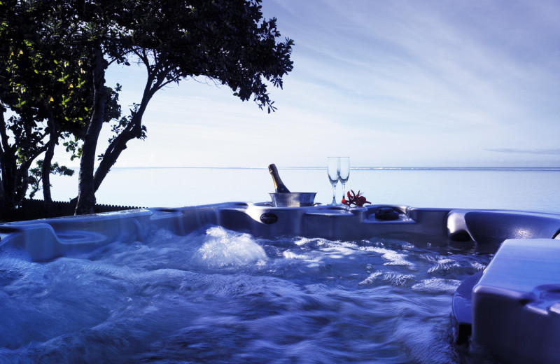 Hot tub at Shangri-La's Fijian Resort.