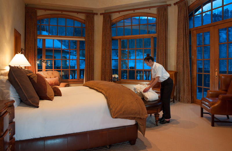 Guest room at Chateau Beaver Creek.