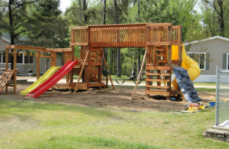 Playground at Becker's Resort & Campground.