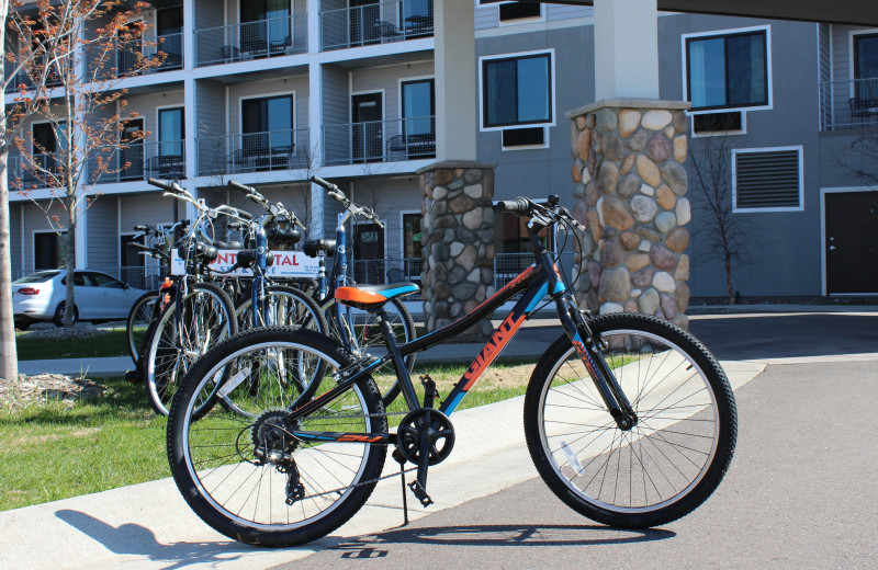 Biking at Park Point Marina Inn.