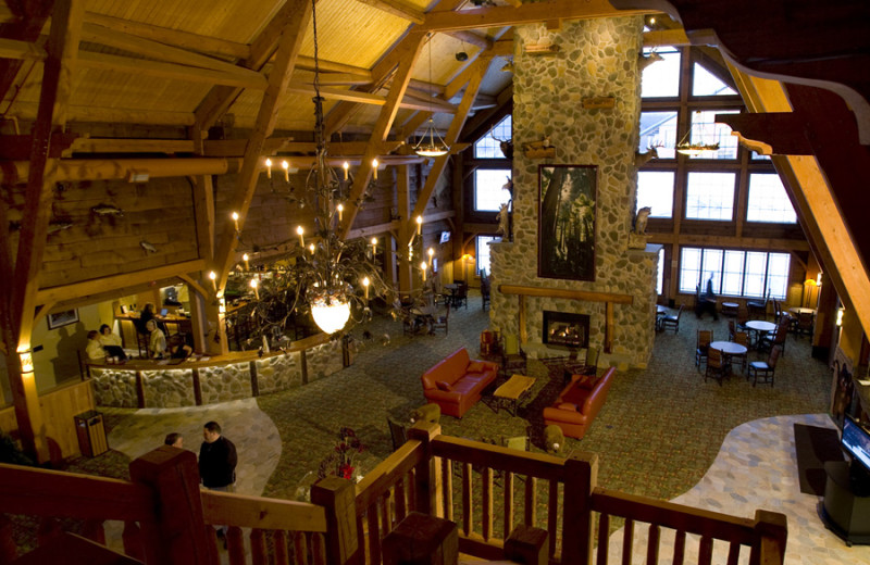 Lobby area at Hope Lake Lodge & Indoor Waterpark.