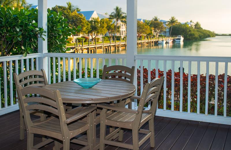 Deck view at Hawks Cay Resort.