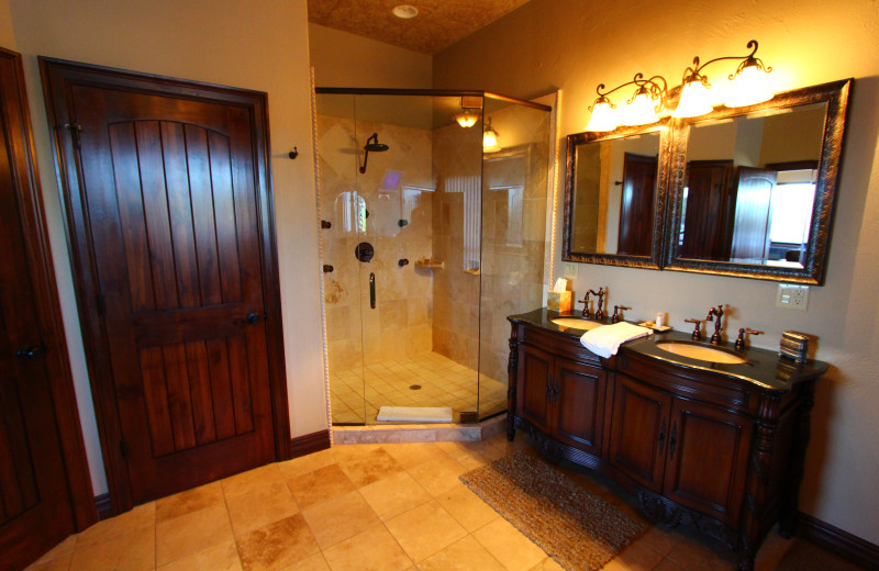 Suite bathroom at D'Monaco Luxury Resort.