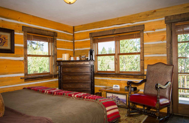 Guest room at C Lazy U Ranch.