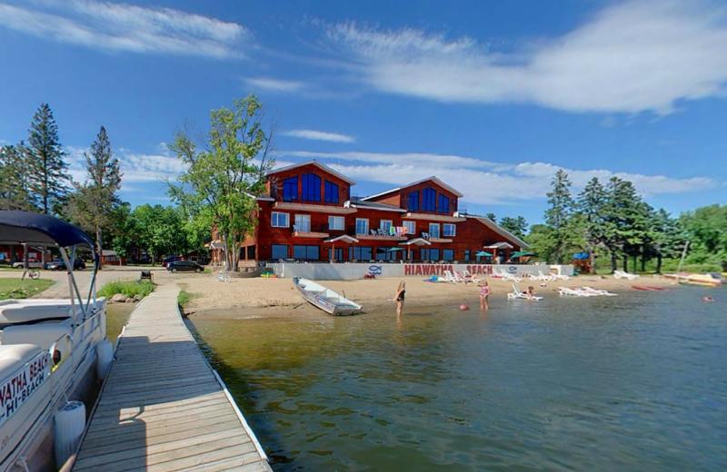 Exterior view of Hiawatha Beach Resort.