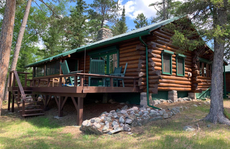 Private cabin at River Bend's Resort & Walleye Inn.