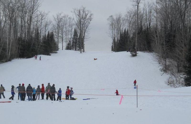 Sledding hill at Lakewoods Resort.