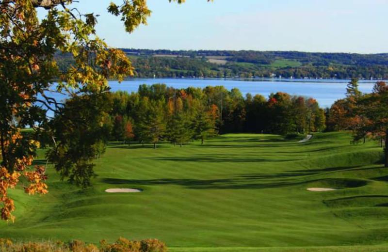 Golf course at Elmhirst's Resort.