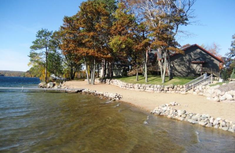 Beach at Kavanaugh's Sylvan Lake Resort.
