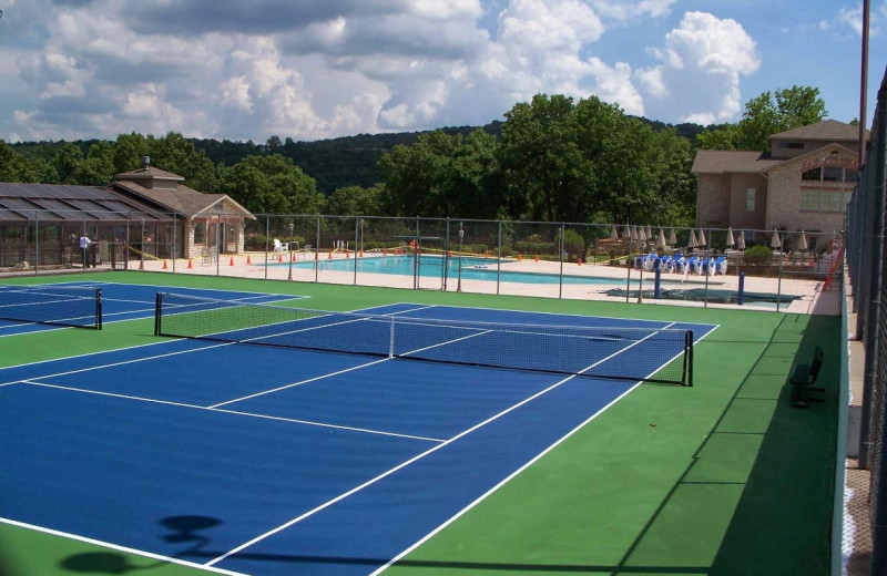 Tennis court at Pointe Royale.