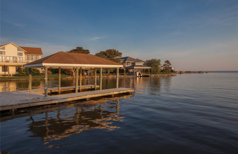 Rental dock at Sandbridge Realty.