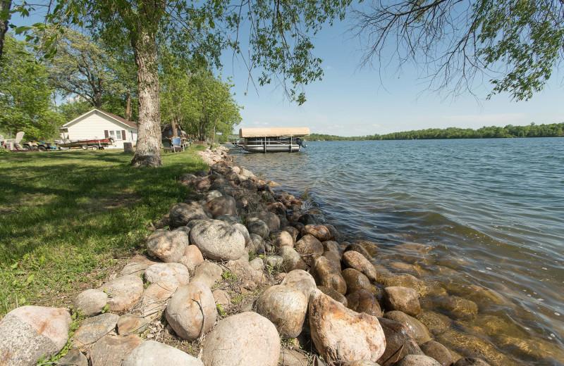 Lake at Sybil Shores Resort.